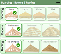Control explanation - Lean-to Boarding | Battens | Roofing