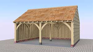 Oak garage designer oak timber structures for 2 bay garage