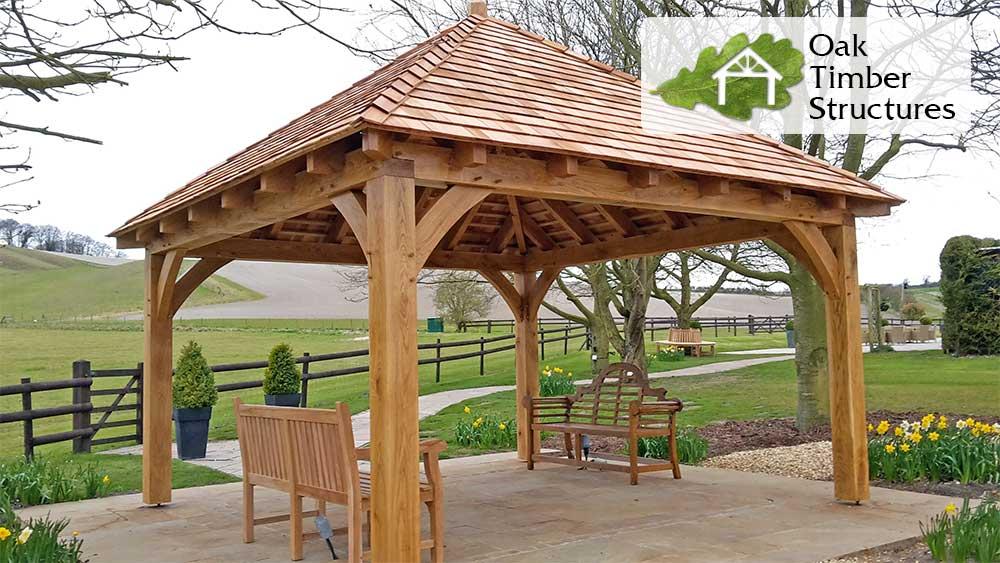 Solid Oak Gazebos - Oak Timber Structures