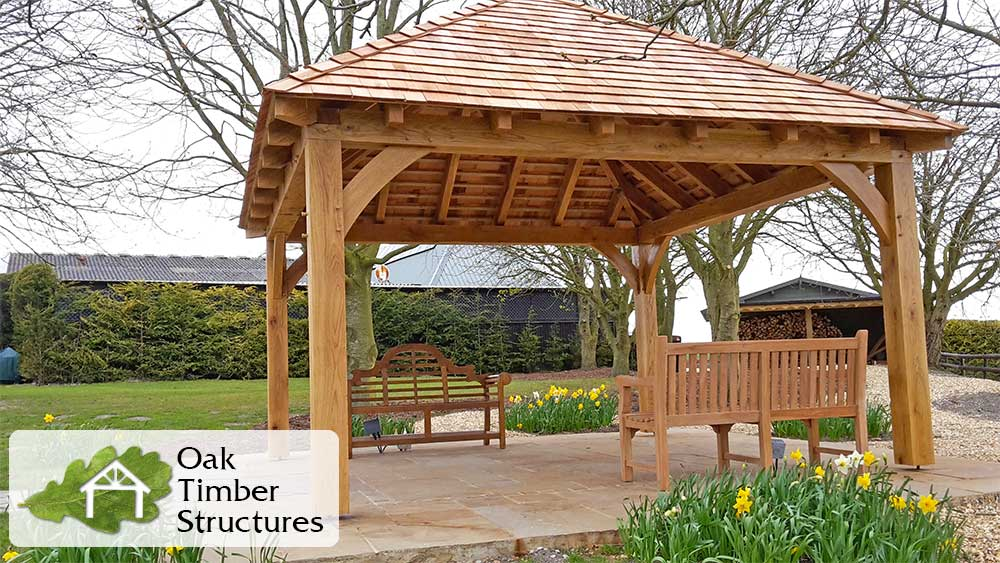 Solid Oak Gazebos - Oak Timber Structures