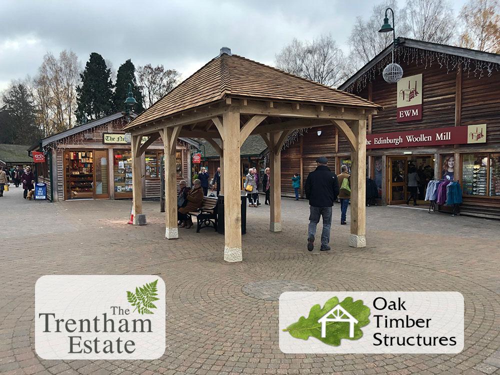 3m x 6m oak gazebo with 200mm posts