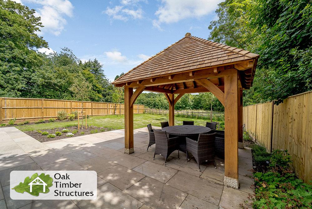 4x4m oak gazebo with 175mm posts