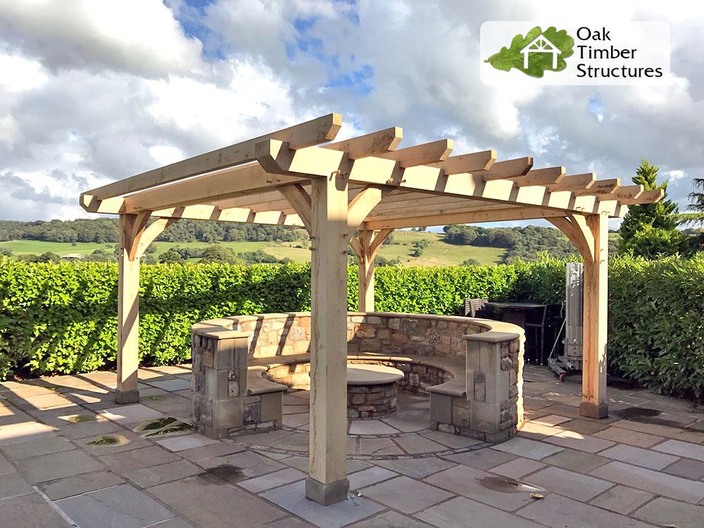 Standard Size Pergola : Solid oak pergolas timber structures