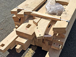 Oak Porch kit form