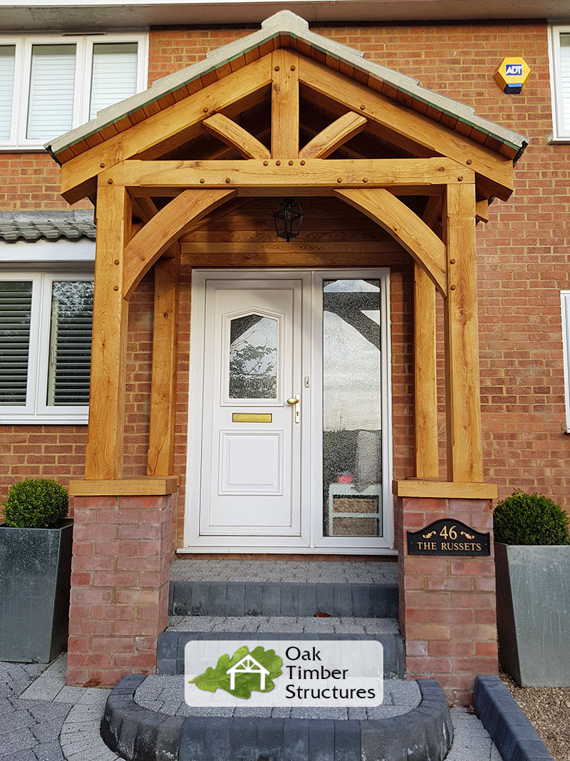 Solid Oak Porches - Oak Timber Structures on