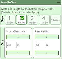 Control explanation - Lean-to Size