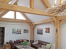 An oak frame and trusses